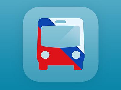 Bus Stop DC App Icon transit icon ios app bus