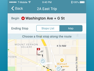 Create Trip atozed journey trips transit bus ios