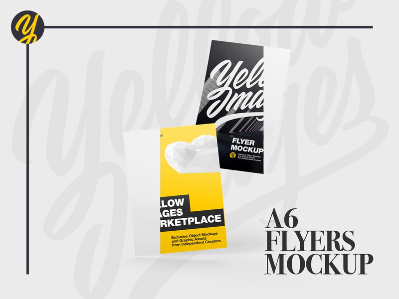 A6 Flyers Mockup leaflet invitation identity flyers flyer commercial carton cards card business card business brochures brochure branding brand advertisment advertising a6 a5 a4