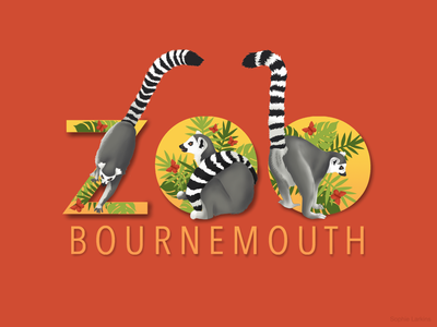 Lemur - Bournemouth Zoo Memorabilia Shirt Design wordmark tshirt apparel shirt design illustrator childrens clothes zoo park menagerie conservation marsupial vectors illustration work wildlife art lemur illustrated animal care