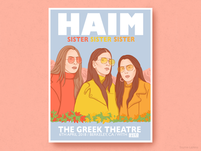 HAIM Band - Berkeley Concert Poster