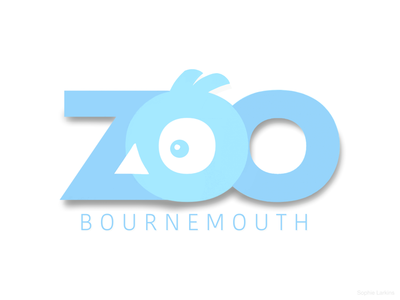 Bournemouth Zoo Logo - Negative Space Bird Head logomark bird avian species typography logotype negative space menagerie clever design wordmark branding identity animal illustration birdwatching student work zoo wildlife park logo design