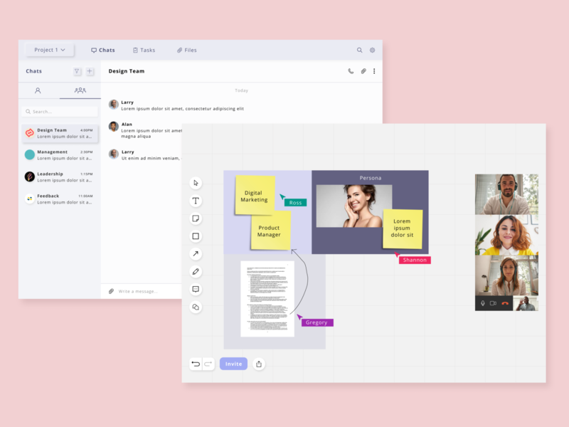 Whiteboard for remote teams remote collaboration whiteboard userinterface minimal clean color web design web design ux ui