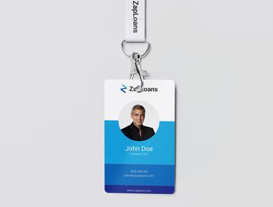 Lanyard ID badge mockup 2