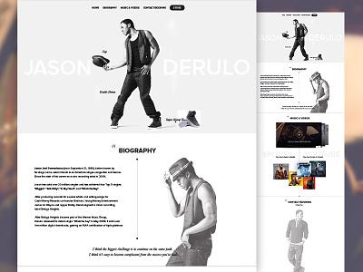 Jason Derulo (design) website design jason derulo quickdesign