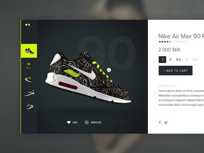 Product Modal shoe e-commerce nike new project sweden website design