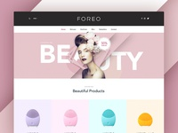 FOREO Preview layout type web design website redesign ecommerce ux ui