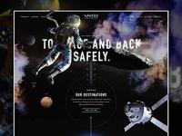#SPACEDchallenge Preview - (still work in progress) spacedchallenge dann petty dark landingpage website design ux ui moon space homepage astronaut