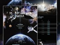 #SPACEDchallenge Full astronaut homepage space moon ui ux design website landingpage dark spacedchallenge dann petty