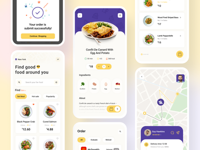Food Delivery App noodles burger pizza finder food app food and drink delicious ux ui clean simple food restaurant card app mobile mobile app food delivery delivery app menu