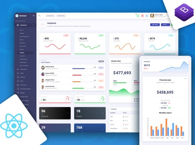 Bamburgh React Admin Dashboard with Reactstrap PRO design ux bootstrap ui kit html bootstrap bootstrap 4 admin template reactjs react admin dashboard template admin dashboard
