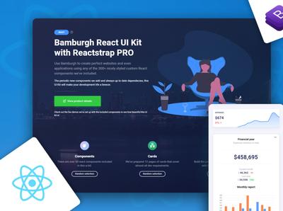 Bamburgh React UI Kit with Reactstrap PRO admin dashboard design bootstrap ui kit ui kit design reactjs react ui html bootstrap 4 admin template bootstrap ui kits ui kit