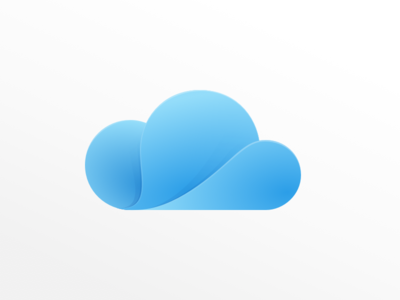 Cloudia blue gradient design logo cloud