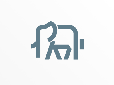 Elephant typography symbol sketch mark logo icon identity
