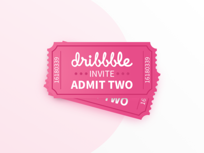 2 Dribbble Invites free invite ticket invite invitation illustraion giveaway dribbble draft