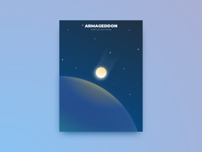 Minimal movie poster - Armageddon willis poster movie minimal gradient bruce asteroid armageddon