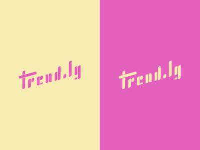 #Typehue Brandom Week 6: Trend.ly brandom trendly logo vector type typehue branding brand lettering trend