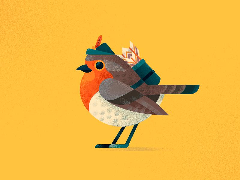 Robin Hood anano birdie robinhood fluffy cute arrows hood robin bird