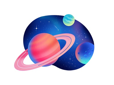 Planets anano stars jelly pink dissolve texture stain space planets