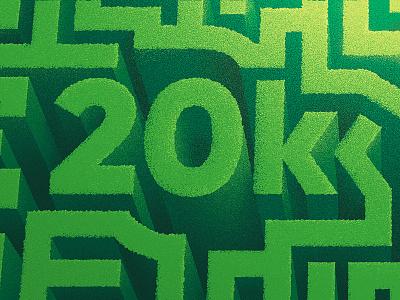 Thank you! topview grass anano labyrinth dissolve texture green maze thousand milestone 20k