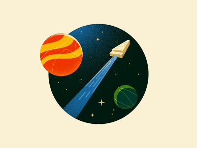 Space travel galaxy planet spaceship space adobe dissolve 2d illustration texture anano