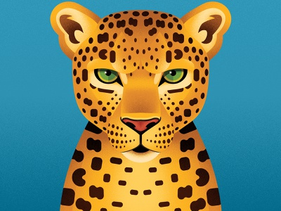Leopard portrait portrait face geometry cat book animal leopard illustration anano