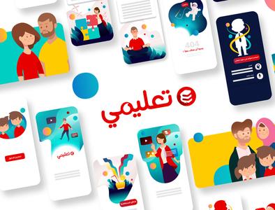 Vodafone Talimy | Educational Platform infographics motiongraphics loop colors characters flat ui illustration students parents teachers schools egypt webapp app web platform education ta3limy vodafone