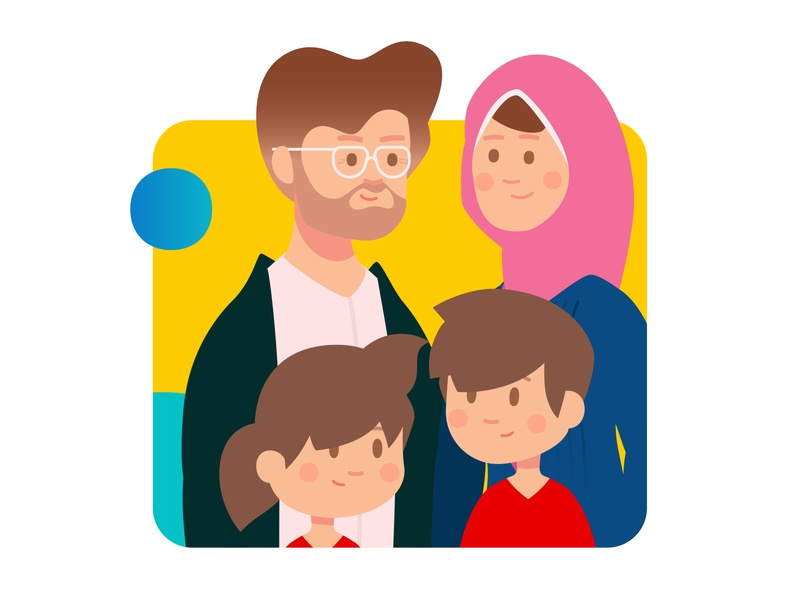 Vodafone Talimy | Educational Platform motiongraphics 3obaz infographic ui loop illustration flat characters family teachers students parents schools egypt webapp education app platform education ta3limy vodafone