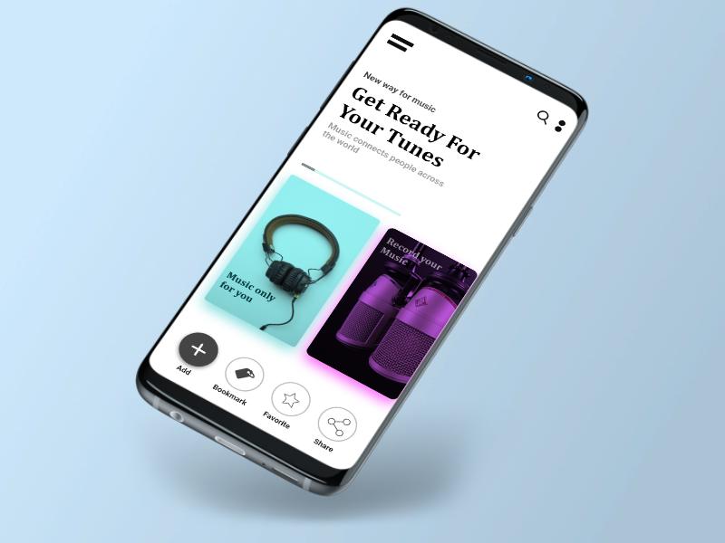 Music news board branding vector illustrator mobile music design app ux ui illustration