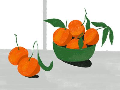 Mandarins fruit speedpaint life drawing doodle procreate still life color smell winter orange autumn fall mandarins