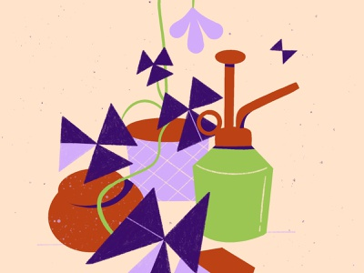 Oxalis Triangularis illustration still life oxalis shape graphic skillshare