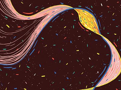 Twirl science dna editorial illustration illustration print editorial nature