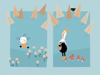 stillframe from MERLOT traditional animation cartoon 2d animation 2danimation animation shortfilm merlotfilm