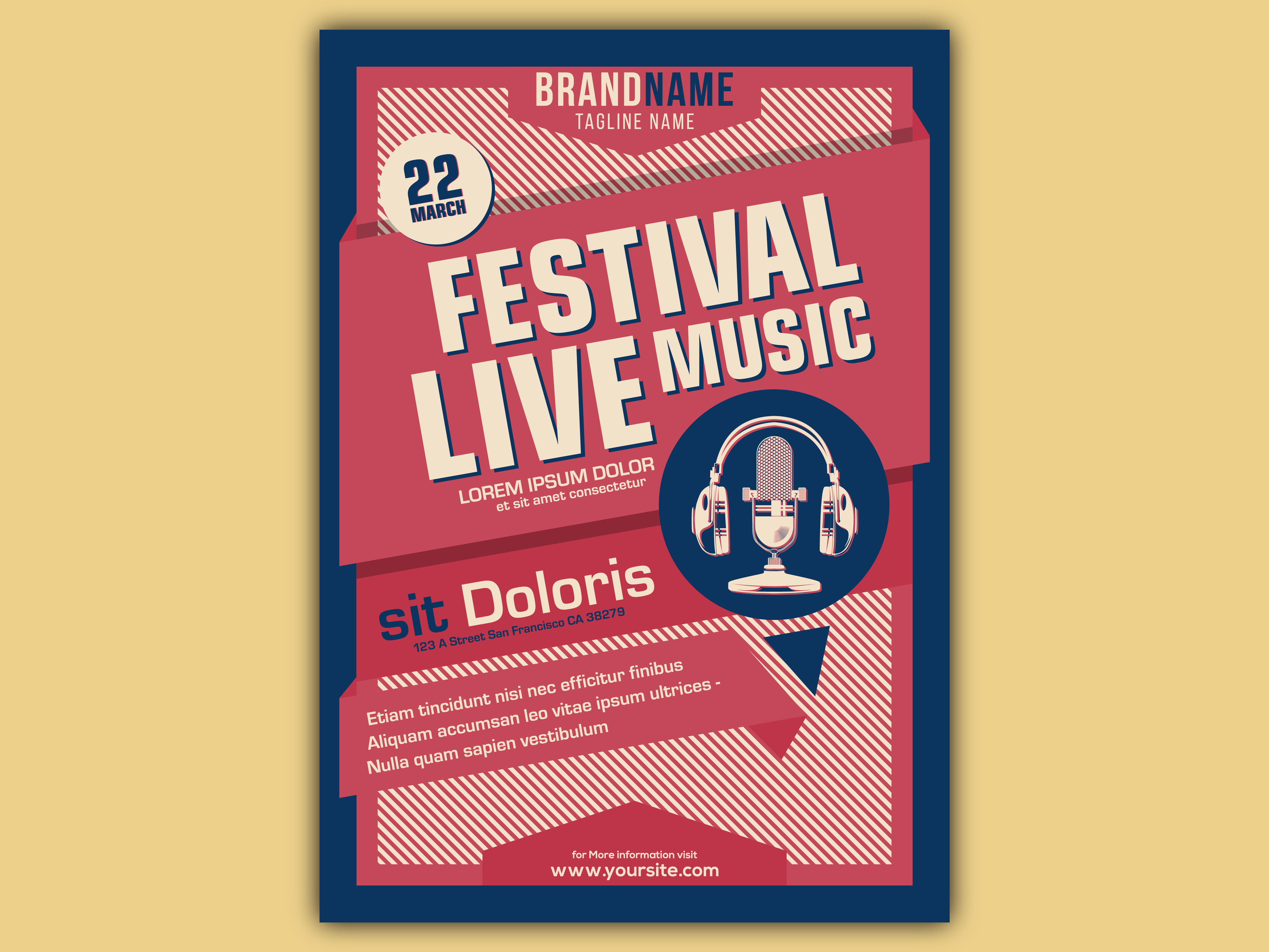 Vector of Vintage Music Event Poster Template by Aditya W J