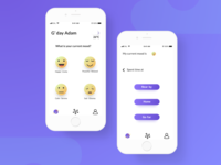 Activities Recommender whitespace white ui purples nearby mood ios interface app design activity