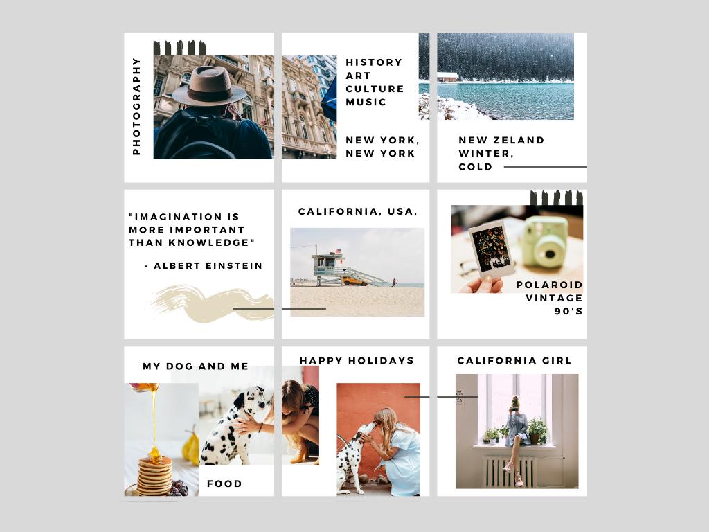 Mosaic for Instagram modern pattern bundle website web templates socialmedia simple minimal instagram fotografia design clean canva branding mosaic