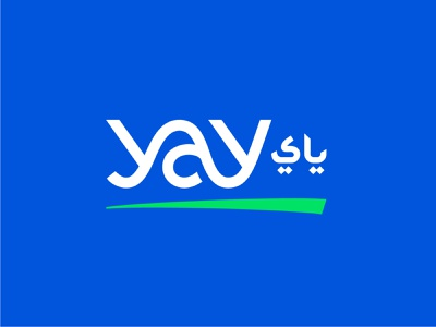 Yay Delivery Logo speed movement arabic wordmark fast company app logo package delivery design technology logo modern abstract logo brand branding logo design logo