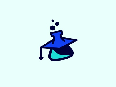 Alchemy Academy Logo academy playful graphic design graduation hat student alchemy tube science design modern brand branding logo design logo