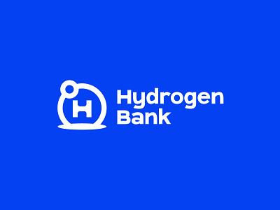 Hydrogen Bank power industrial company bank climate energy renewable energy science atom hydro hydrogen design technology logo abstract logo modern brand branding logo design logo