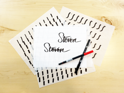 Hand Lettering Fun brush lettering newb team fun script hand lettering focus lab