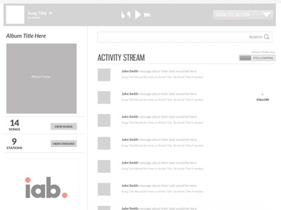 Activity Stream Wireframe 2