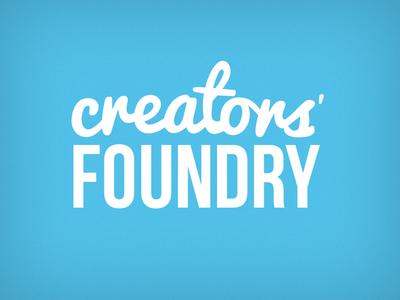 Creators Foundry Branding branding logo script handwritten pacifico univers logotype wordmark