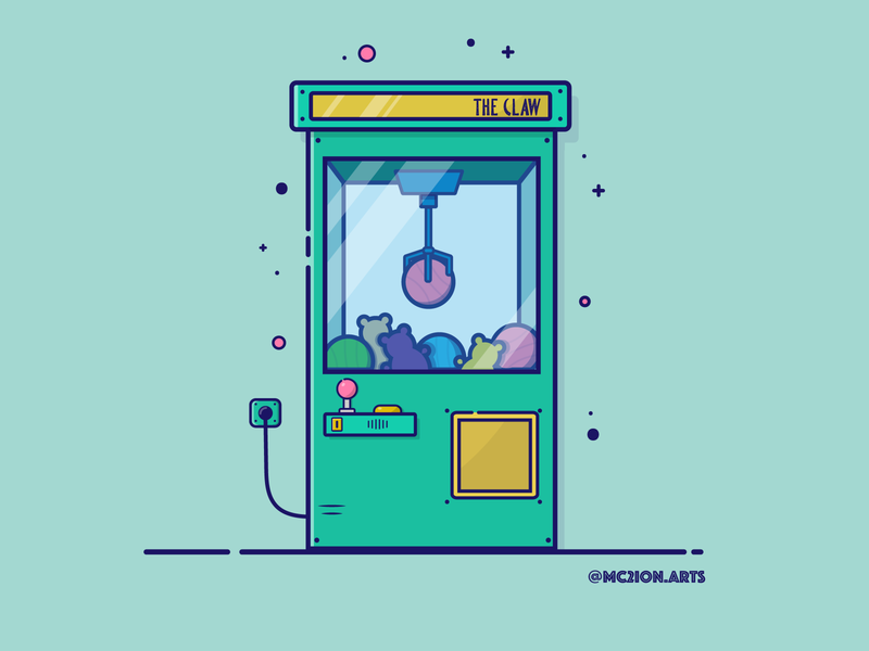 Claw Machine the claw illustration the claw claw machine art vector flat vector flat illustration illustration