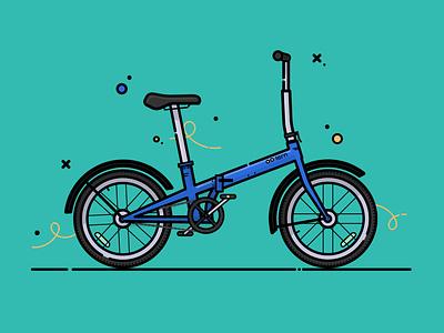Folding bike tern bike folding bike vector flat vector flat illustration illustration