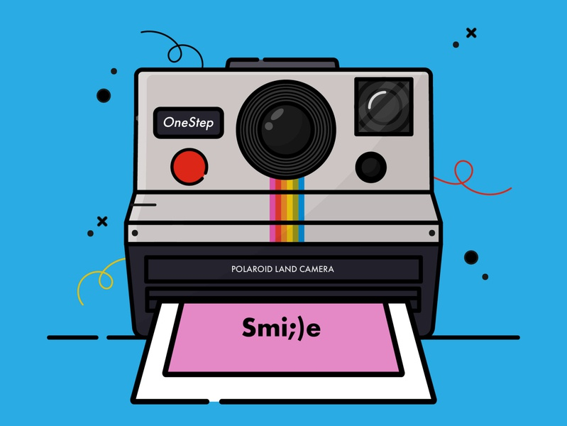 Polaroid Camera polaroid illustration polaroid artoftheday vector flat vector flat illustration illustration