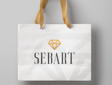 Sebart - Logo and mockup for jewelry company