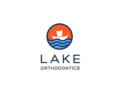 Lake Othodontics flat logo modern logo logo branding agency brand identity branding health oral logodesign dental logo lakedental laketeeth dentallogo orthodontics teeth