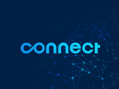 Connect Logo blue logo brand identity branding agency branding social network networking logo technology connected tehonology logo app logo tech connections connection