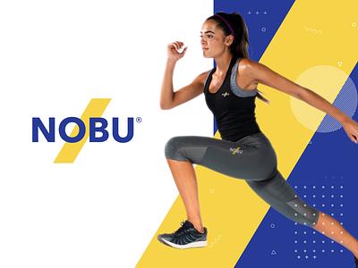 Nobu Logo sports supplement logo supplement logo workout logo sports logo health gym logo athlete logo fitness app logo fitnesslogo logodesigner logo nobu