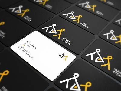 Meet Expert Business Card Design modern businesscard design modern logo flat logo stationery design identitydesign brand elements black yellow branding brandidentitydesign logo visitingcard businesscarddesign businesscard